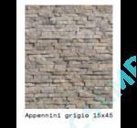 APPENNINI    GRIGIO              15X45X 1,5-3 CM  6 DB/DOBOZ