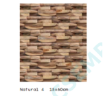 WOOD CLADDING   NATURAL 4               15X60X 2-3 CM  10 DB/DOBOZ