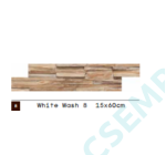 WOOD CLADDING   WHITE  WASH 8               15X60X 2-3 CM  10 DB/DOBOZ