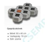 GYEPRÁCSKŐ (10 CM) 60X40 SZÜRKE