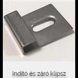 INDÍTÓ ÉS ZÁRÓ FÉM KLIPSZ